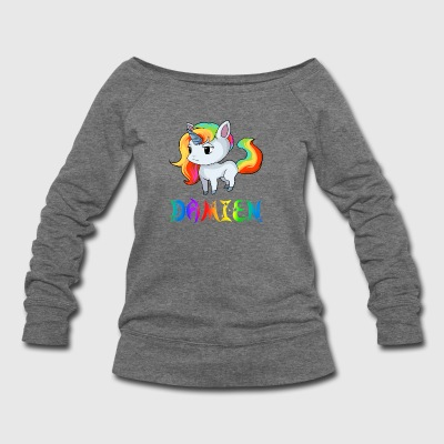 Damien Unicorn - Women's Wideneck Sweatshirt