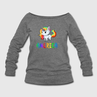 America Unicorn - Women's Wideneck Sweatshirt