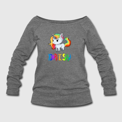 Daisy Unicorn - Women's Wideneck Sweatshirt