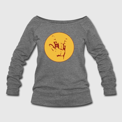 rock sign - Women's Wideneck Sweatshirt