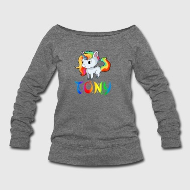 Tony Unicorn - Women's Wideneck Sweatshirt