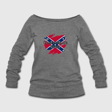 Confederate Rebel - Women's Wideneck Sweatshirt