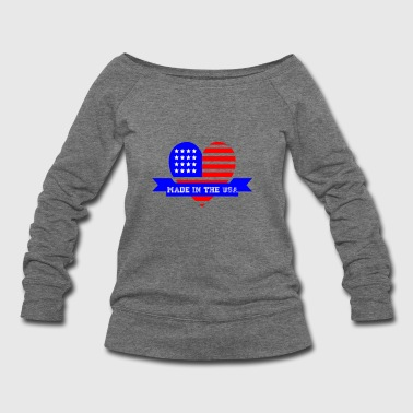 Made in the USA - Women's Wideneck Sweatshirt