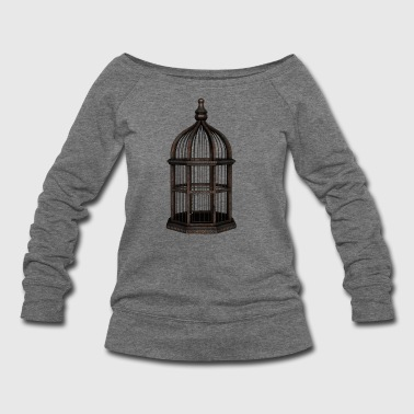 Rusty Birdcage Render - Women's Wideneck Sweatshirt