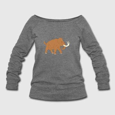 Animal Ancient Mammoth Trunk Fur 45726 - Women's Wideneck Sweatshirt