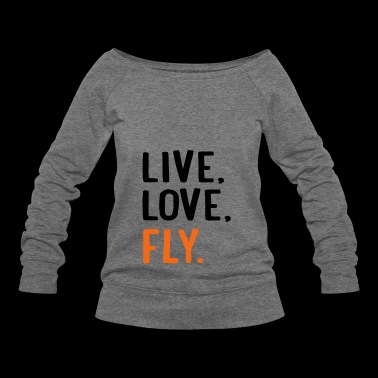 fly - Women's Wideneck Sweatshirt