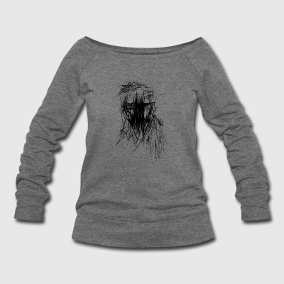 faced - Women's Wideneck Sweatshirt
