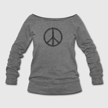 peace logo in black - Women's Wideneck Sweatshirt