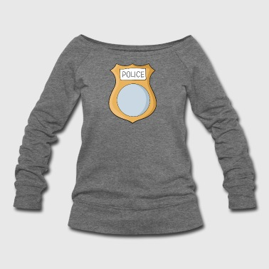 Police badge - Women's Wideneck Sweatshirt