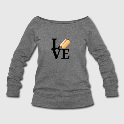 Hot Dog Love - Women's Wideneck Sweatshirt