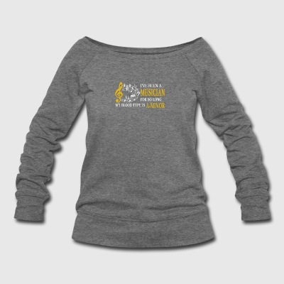 Musician Tee Shirt - Women's Wideneck Sweatshirt