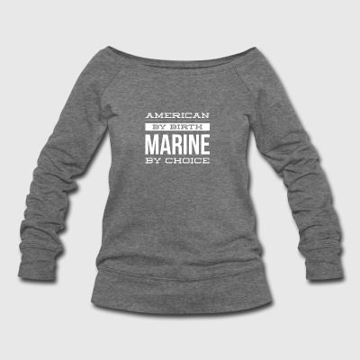 Marine Veteran - Women's Wideneck Sweatshirt
