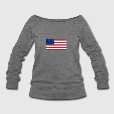 50 flag - Women's Wideneck Sweatshirt