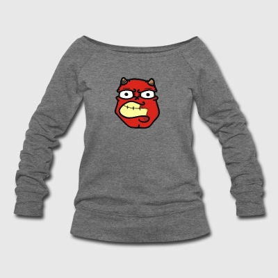 Devil faces - Women's Wideneck Sweatshirt