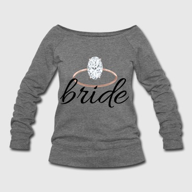 bride with ring - Women's Wideneck Sweatshirt