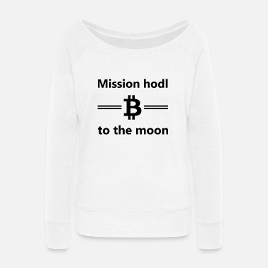 Revolution Bitcoin - Women's Wide-Neck Sweatshirt