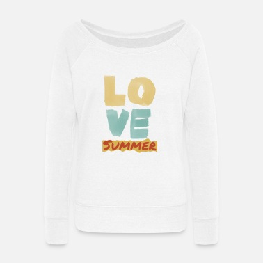 Mode Love Summer - Women's Wide-Neck Sweatshirt