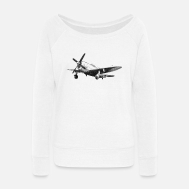 Bomber P-47 - Women's Wide-Neck Sweatshirt