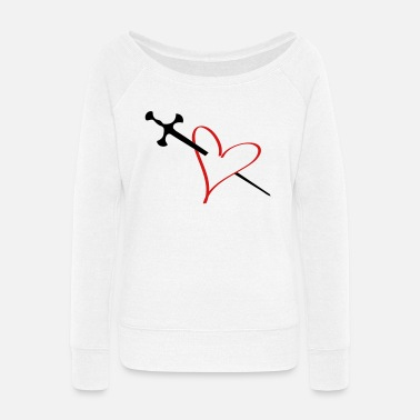 Serce heart - Women's Wide-Neck Sweatshirt