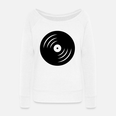 Vinyl vinyl - Women's Wide-Neck Sweatshirt