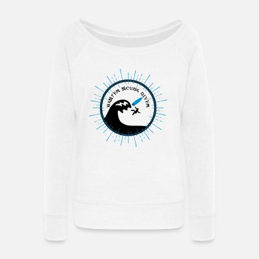 Surfboards Surfgirl Girl Surfcamp Camp Beach Palms Master Scuba Diver - Women's Wide-Neck Sweatshirt