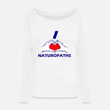 Naturopathic NATUROPATH DESIGN - Women's Wide-Neck Sweatshirt