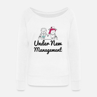 Mr Under new management vacation - Women's Wide-Neck Sweatshirt