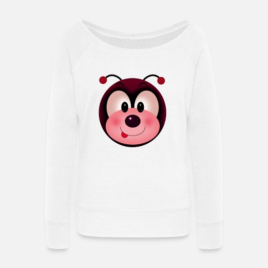 Wife Hoodies & Sweatshirts - Coquito - Women's Wide-Neck Sweatshirt white