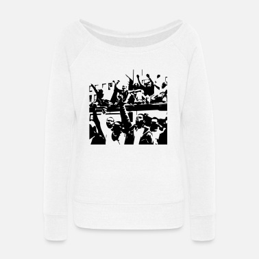 Revolution revolution - Women's Wide-Neck Sweatshirt