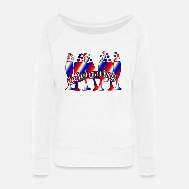 Celebrate Celebrating - Women's Wide-Neck Sweatshirt