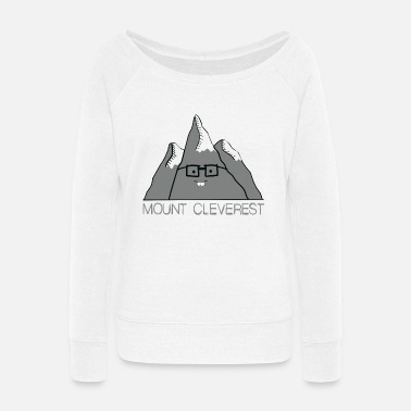 Mount Cleverest Nerd Mount Cleverest - Women's Wide-Neck Sweatshirt