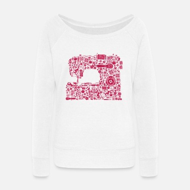 Sewing Sewing Quilting Crafting - Women's Wide-Neck Sweatshirt