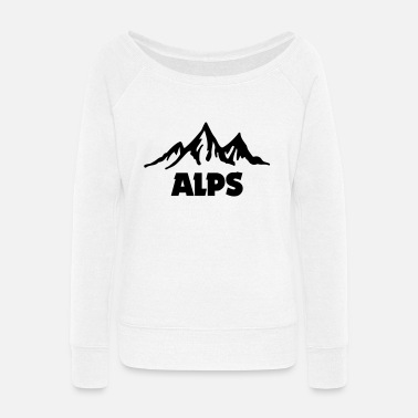 Alps alps - Women's Wide-Neck Sweatshirt