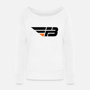 Factor B FBL Black Orange no na - Women's Wide-Neck Sweatshirt