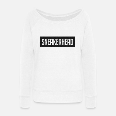 Sneakerhead sneakerhead boost 350 black - Women's Wide-Neck Sweatshirt