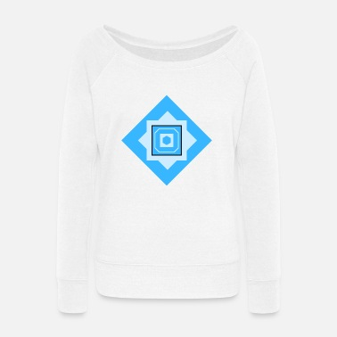 Quadrat Squares Quadrats - Women's Wide-Neck Sweatshirt