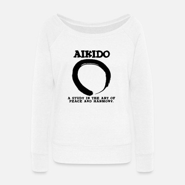 Aikido Aikido Peace & Harmony - Women's Wide-Neck Sweatshirt