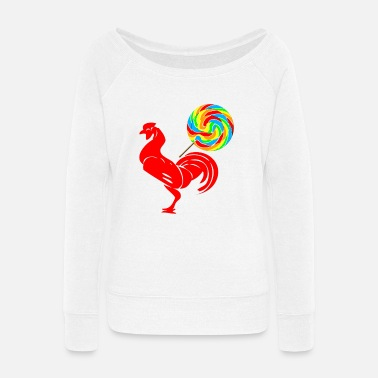 CockSucker - Women's Wide-Neck Sweatshirt