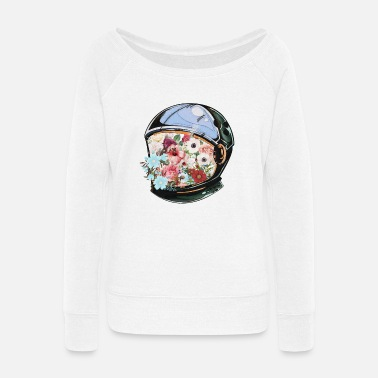 Bloom In Bloom - Women's Wide-Neck Sweatshirt
