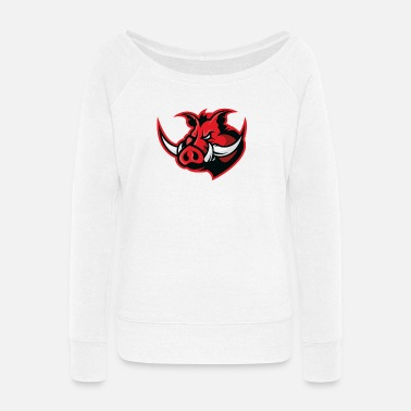 Hog Hog - Women's Wide-Neck Sweatshirt