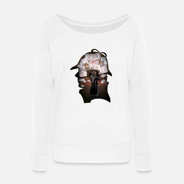 Puzzle A Puzzling Mind - Women's Wide-Neck Sweatshirt