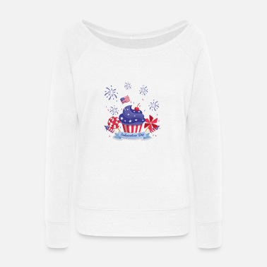 Independence Day Independence Day T Shirt Independence Day T Shirt - Women's Wide-Neck Sweatshirt