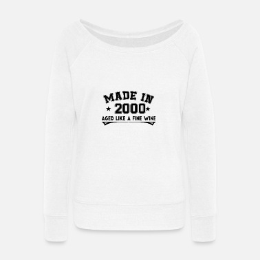 Fine Aged Like a Fine Wine 2000 - Women's Wide-Neck Sweatshirt