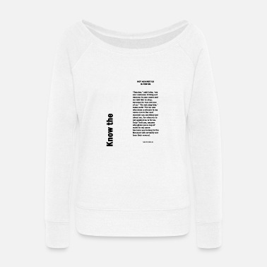 Us Not against us is for us - Women's Wide-Neck Sweatshirt