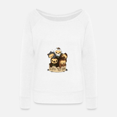 Motion SLOTH MOTION - Women's Wide-Neck Sweatshirt