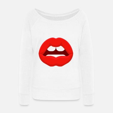 Mouth Mouth - Women's Wide-Neck Sweatshirt