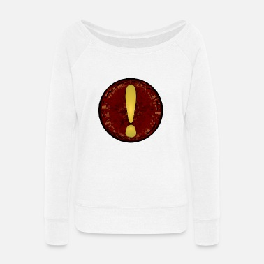 Mark Something exclamation mark - Women's Wide-Neck Sweatshirt