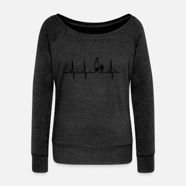 Latino wein heartbeat - Women's Wideneck Sweatshirt