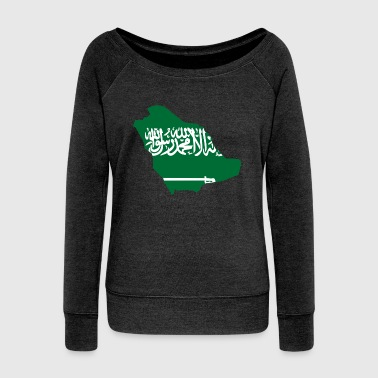 Flag map of Saudi Arabia - Women's Wideneck Sweatshirt