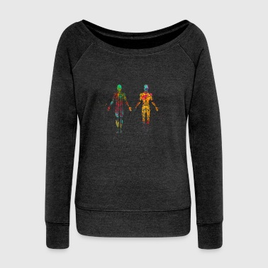 Male muscular System - Women's Wideneck Sweatshirt